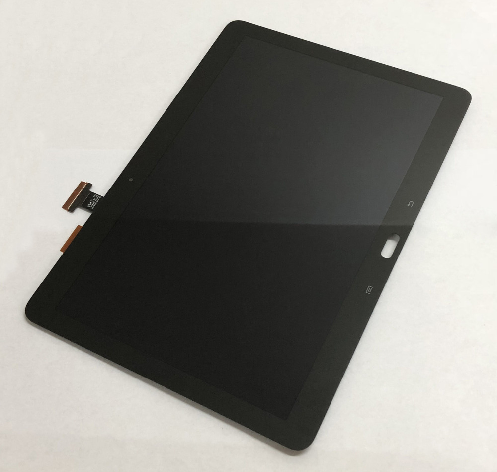 Black For Samsung Galaxy Note 10.1 SM- P600 P601 P605 Touch Screen Digitizer Sensor Glass + LCD Display Panel Monitor Assembly new 10 1 lcd combo for samsung galaxy note 10 1 sm p600 p605 p600 lcd display touch screen digitizer glass assembly with frame