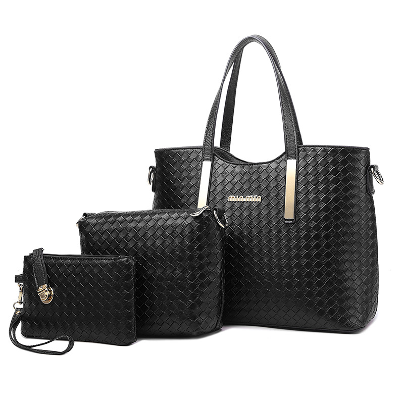 Women Handbag New Fashion High Quality Pu Lether Female 3 Set Bag Large Capacity Shoulder Bags Crossbody Totes Top Handle Clutch