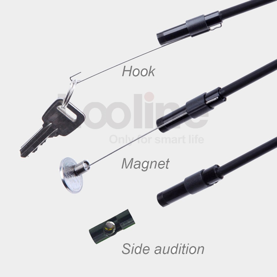 Endoscope Camera IP67 Waterproof Inspection Borescope Video Tube Pipe With 5M Rigid Cable 6 LEDs 5MM USB MINI Snake Camera 5m 5 5mm lens rigid cable usb waterproof endoscope inspection mini camera ip67 snake tube with 6 led borescope for pc android