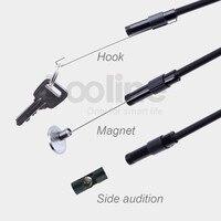 Endoskop Kamera IP67 Su Geçirmez Muayene Borescope Video Tüp Boru 5 M Sert Kablo Ile 6 LEDs 5 MM USB MINI yılan Kamera