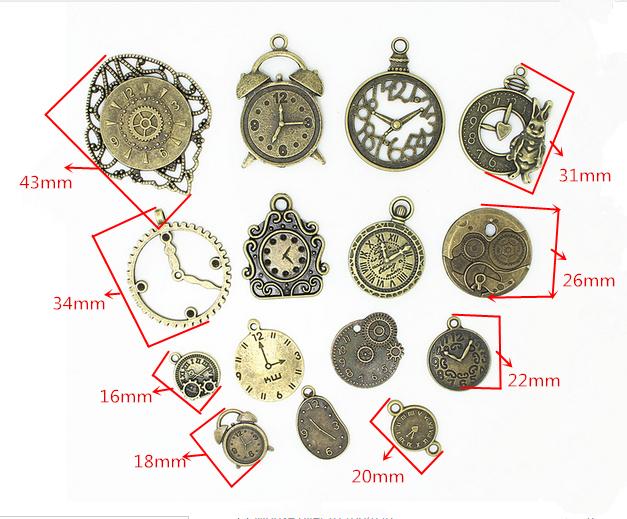 Antique Bronze Metal Mixed DIY Charms 20pcs