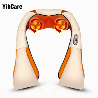 YihCare U Shape Electrical Back Neck Shoulder Body Massager Infrared Heated Kneading Car Massager Multifunctional Massage