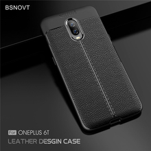 For OnePlus 6T Case Soft Silicone PU Leather Shockproof Anti-knock Bumper Oneplus Cover 1+6T BSNOVT