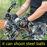 Very powerful Compound bow shot steel ball archery dual use bow and arrow pulley bow shot fish bow outdoor hunting dedicated