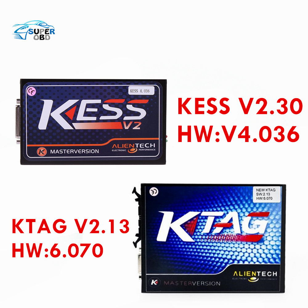 2017 KESS V2 V2.30 V4.036 OBD2 Manager Tuning Kit Unlimited Tokens KESS + KTAG Latest V2.13 FW 6.070 K tag ecu programming tool