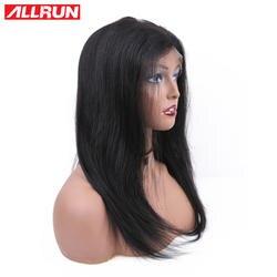 Allrun прямые волосы парик бразильский синтетические волосы на кружеве натуральные волосы Искусственные парики с ребенком волос