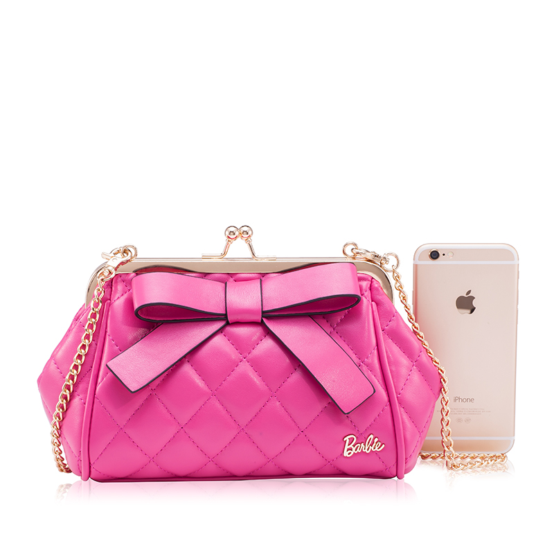 Barbie Designer Small Mini Bags Women Chain Crossbody Handbags Shoulder Female Bow Las Pu Leather Pink In Top Handle From