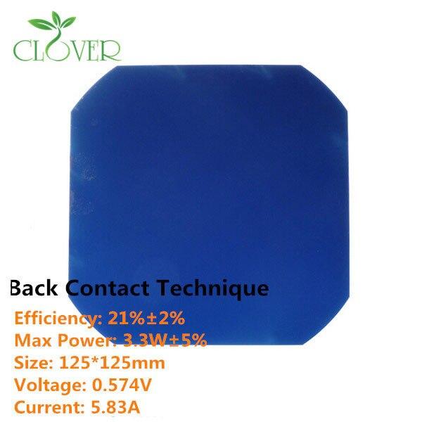 US $369 0 |150pcs/a lot,21 8% high efficiency 125mm Monocrystalline Solar  Cell,buy Sunpower Maxeon 3 3W Flexible solar cells 5x5 on Aliexpress com |