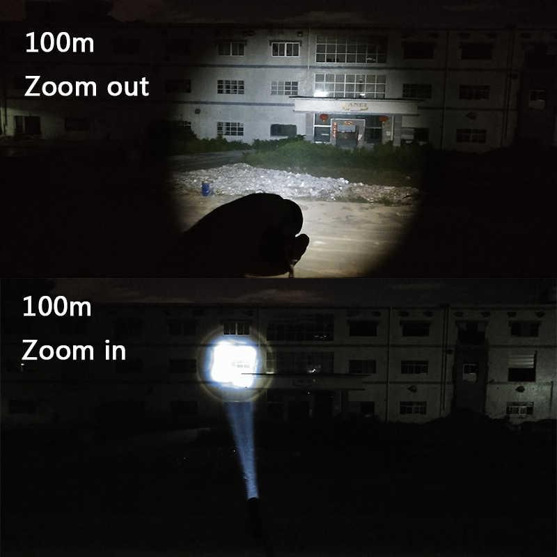 Litwod Z90 1446 linterna LED CREE XHP70.2 alta potencia 50000LM táctica impermeable que compacta la luz de la antorcha 18650 y 26650 linterna