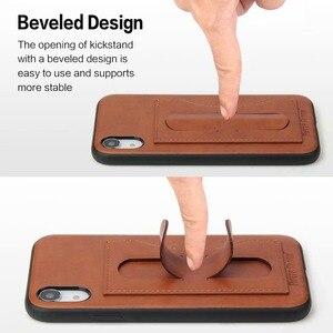 Image 4 - Capa para iphone 12 mini 11 pro xs max x xr 6 s 7 8 plus se 2020 capa etui luxo capa de couro acessórios coque escudo