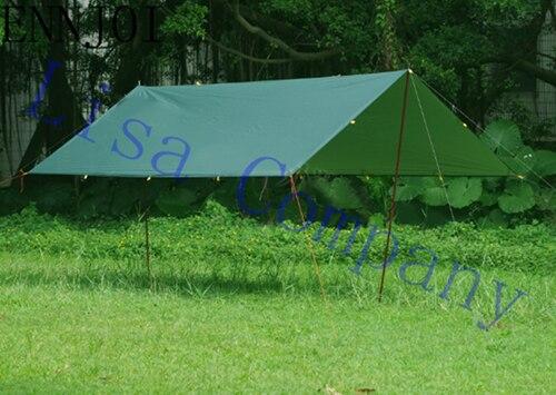 3x3 m 4 couleurs ultraléger Anti UV argent revêtement soleil abri avec 6 cordes de vent grande bâche plage auvent tente Camping tapis