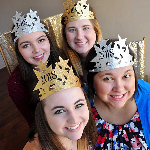 GLITTER New Years Eve Hats 2018 Party birthday hats caps ...