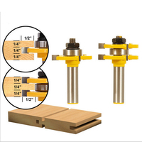 1 Set Tongue Groove Bit Router Set Matched Tongue And Groove Router Bit Woodworking Router Tool