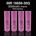 4 unids 2016 100% original a estrenar para samsung inr18650 30q inr18650 batería 3000 mah batería de litio recargable con batería