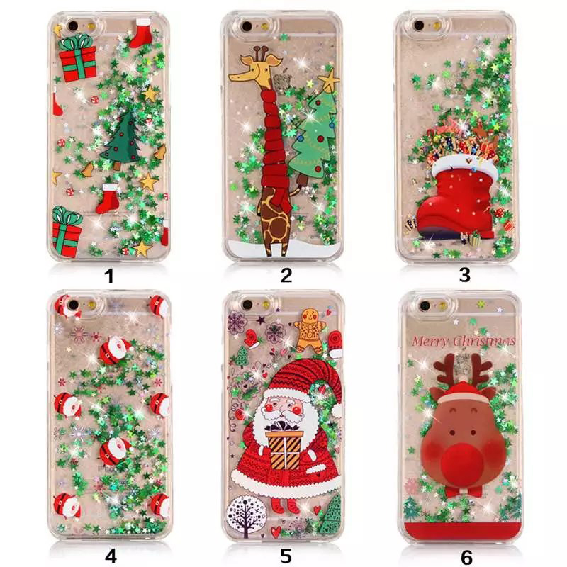 DPRUI Case For Galaxy S9  S9 Fashion Cute Cartoon Christmas Lovely glitter powder sand shell Note9 Soft TPU For Galaxy note 5 8