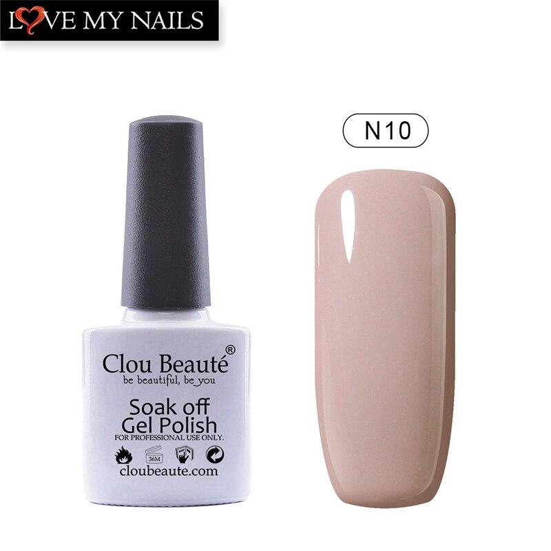 Clou Beaute 18 Nude Colors Nail Gel Polish Nail Varnish Manicure Non ...