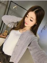 The spring and autumn period and the new women's clothing Cashmere cardigan female Loose render han edition sweater knit
