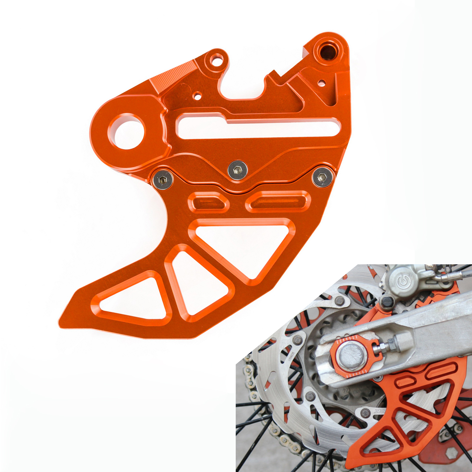 Rear Brake Disc Guard Protector For KTM Dungey Replica 450 SXF 2012-2014 125 250 350 450 525 530 EXC SXF XCF EXC-F XCW 2004-2012Rear Brake Disc Guard Protector For KTM Dungey Replica 450 SXF 2012-2014 125 250 350 450 525 530 EXC SXF XCF EXC-F XCW 2004-2012