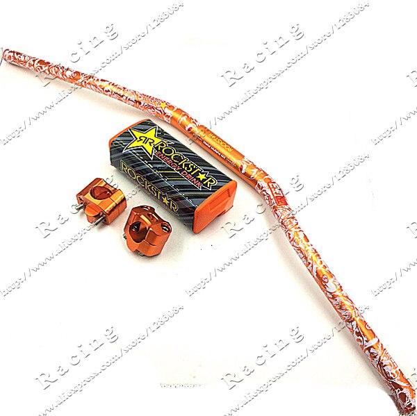 KTM orange Pro Taper Fat Bar 1-1/8 Metal Mulisha Pack Dirt Bike MotorCross Fat Bar Mad Racing Handlebar 810mm 28mm