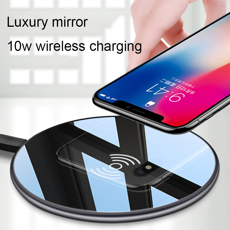Universal Qi 10W Wireless fastest Charger for iPhone X XS Max XR 8 8 Plus Samsung