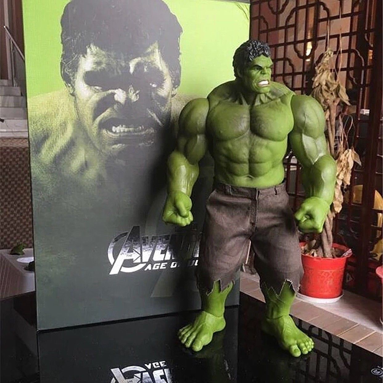 40 cm incroyable Hulk Action Figur bande dessinée Marvel Avengers chaud bobine jouets Sammlung