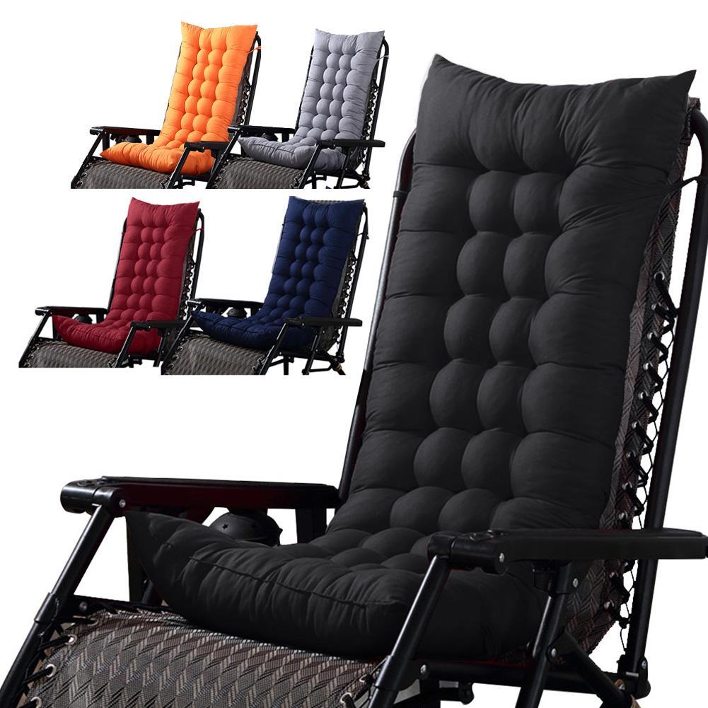 Patio Chaise Lounger Cushion Pad Rocking Recliner Chair Seat Pad Sofa Seat Mat