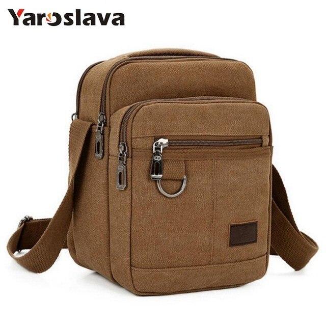 87ea45f1a8 New Casual Fashion Men s Bag Canvas Solid Shoulder Bags for Travel Handbag  Straps Bolsas Phone Purse Small Flap Male Bag LL891