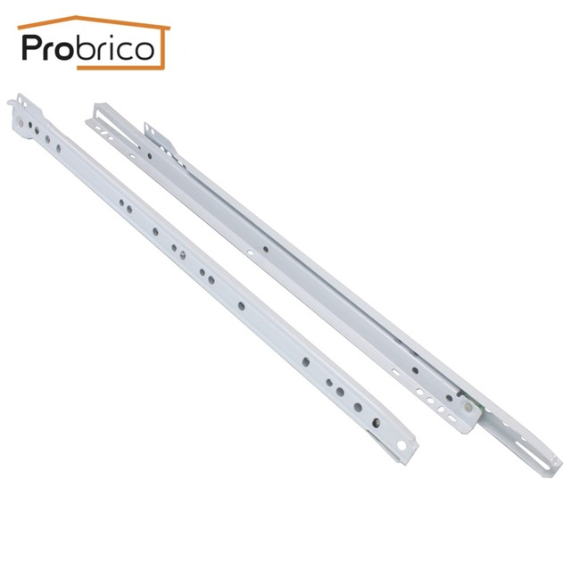 "Probrico 1 Pair Keyboard Drawer Sliding DSMH102-20 Steel White Length 500mm 20"" Furniture Cabinet Kitchen Cupboard Drawer Slides"