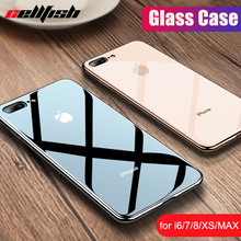 Shockproof Tempered Glass Case for iPhone 7 Plus 7Plus 8 8Plus 6s iPhone7 iPhone8 Cover for Coque iPhone XS MAX XR 10 Glass Case