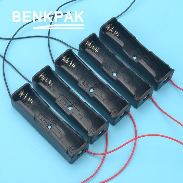 BENKPAK 5 cái 18650 Nhựa Ngân Hàng Điện DIY Pin Chủ Lưu Trữ hộp Trường Hợp cho 1x18650 Đế Pin Cover Box đối với năng lượng meter