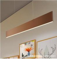 Creative personality led bar dining room dining room chandelier Nordic modern minimalist linear strip loft office lighting