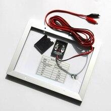 High Quality 5W 18V Glass Laminated Polycrystalline Solar Panel DIY Solar System+3M Cable Crocodile Clip Easy DIY Home System