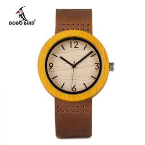 Image 4 - BOBO BIRD Womens Watches Luxury Fashion Bamboo часы женские Wrist Clock 6 Kinds Color Quartz Watch relogio feminino Dropshipping