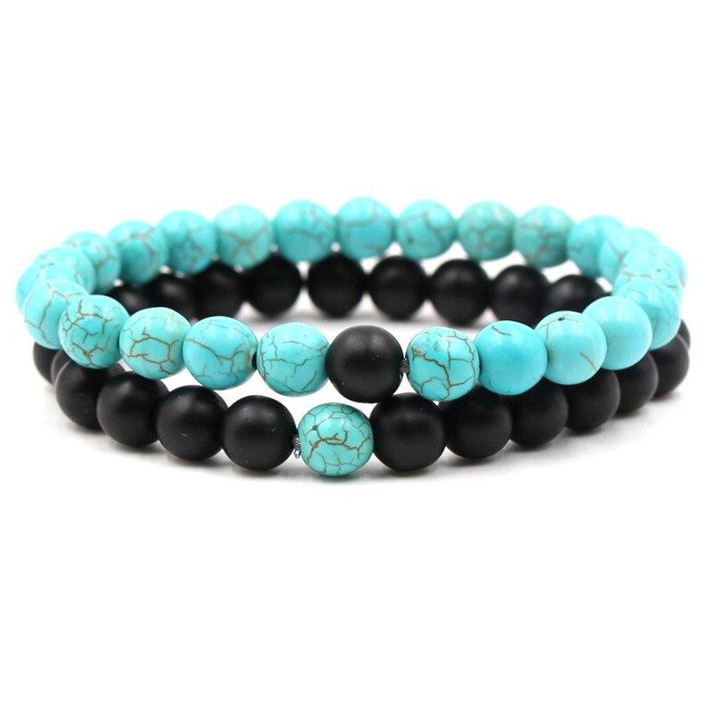 Omh Wholesale 5pcs 6-8 Mm Green Mix Jewelry Fashion Diy Frosted Crystal Womens Bracelet Sz72 Bracelets & Bangles