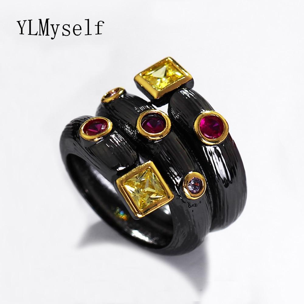 Գերժամանակակից սև օղակներ AAA - Նորաձև զարդեր - Լուսանկար 3