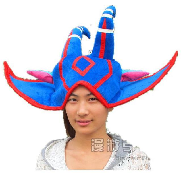 NEW Cosplay LOL The Fae Sorceress Lulu Soft Plush Hat Blue Beanies Cap Party Costume Valentines Gift