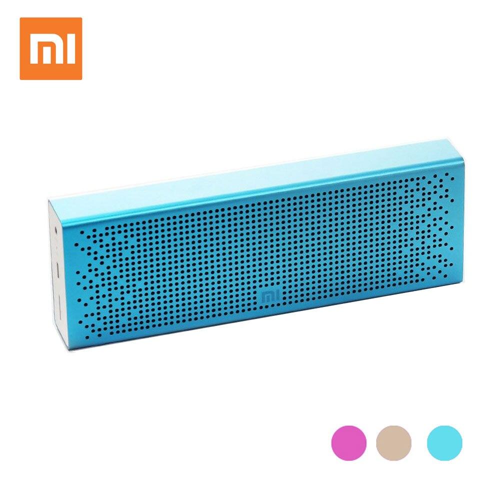 Version anglaise Xiao mi mi haut-parleur Bluetooth, mi cro SD stéréo sans fil mi ni haut-parleurs portables musique lecteur MP3 Support mains libres