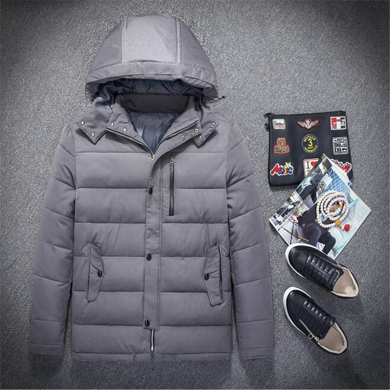 ФОТО Big Size 75-150kg Mens Coat 2016 New Arrival Autumn And Winter Men's Outwear Windcheater Parkas Men Thick Cotton Brand  A2692