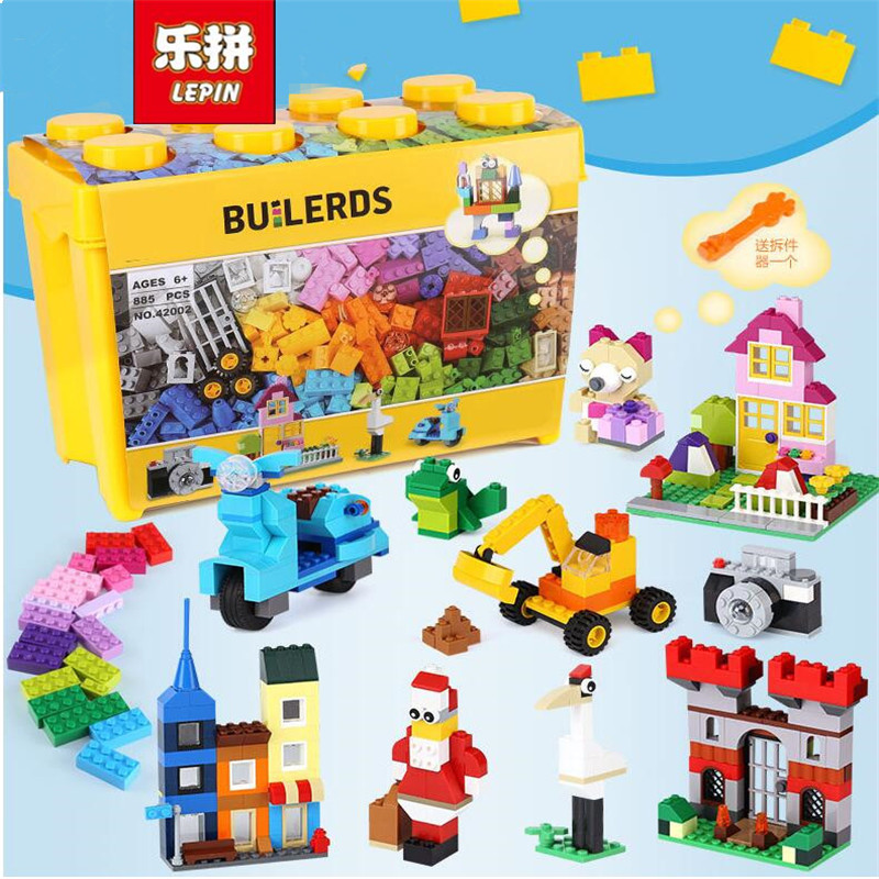 LEPIN Classic Duplo 42002 840PCS Large Creative Building Block Brick enlighten DIY toy for children gifts brinquedos 10698 степлер мебельный со скобами sparta 42002