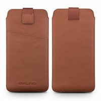 QIALINO Genuine Leather Bag Case for Huawei P20 Pro Business Style Pure Handmade Holster with Card Slot Phone Cover for 6.1 inch