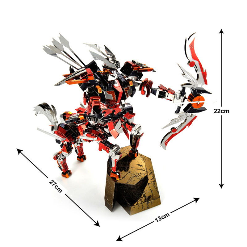 Креативный 3D DIY металлический кентаур рыцарь лучник модель сборки игрушки красочные из нержавеющей стали Стрелец модель головоломки игруш... - 5