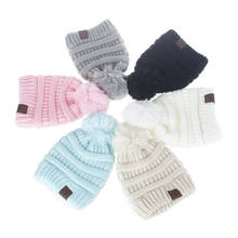 Baby Boys Girls Kids Toddler Pom Hat Winter Warm Crochet Knit Bobble Beanie Cap(China)