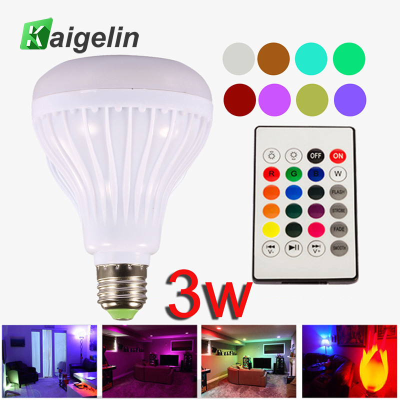 E27 LED Bluetooth Lamp Bombilla LED Bulb E27 Music Speaker Ball Smart Light Bulbs Remote Control Colorful Bulb Lamp For Home Bar