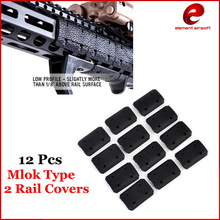 Element Tactical Mlok Type 2 Rail Covers eMag Pul TYPE Voor M-lok SLOT SYSTEEM Rail Panel 12 Stks Voor Outdoor Jacht Wargame Mount