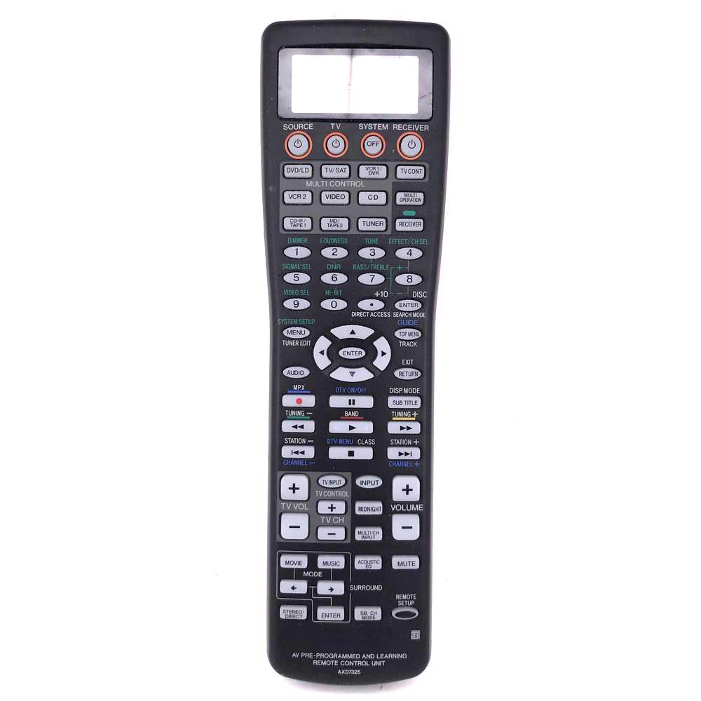 Used Original Remote Control AXD7325 For Pioneer Audio/Video Receiver Fernbedienung VSX1012K VSX2012K VSX45TX VSX55TXI VSX56TXI used original remote control for pioneer elite xxd3105 audio video remote control vsx917s vsx917vk vsx917 vsx917k