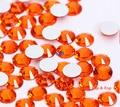 Espumante orange jacinto ss3 não hotfix cristal diy 3d decoração de unhas telefone flatback rodada strass acessório do vestuário