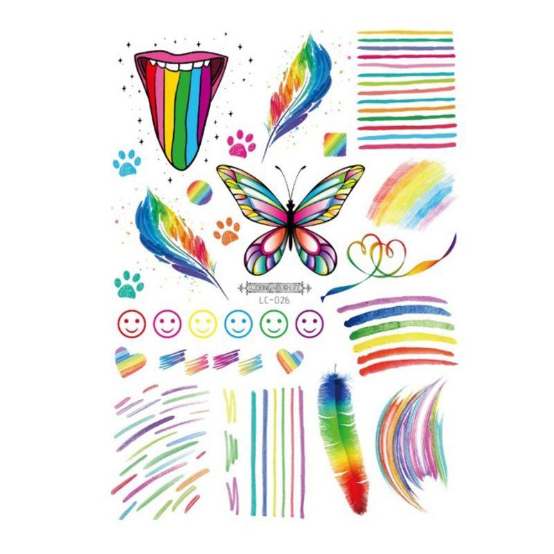 Multi Couleur Arc En Ciel Pride parade Party Accessoires LGBT Stripe Gay Festival