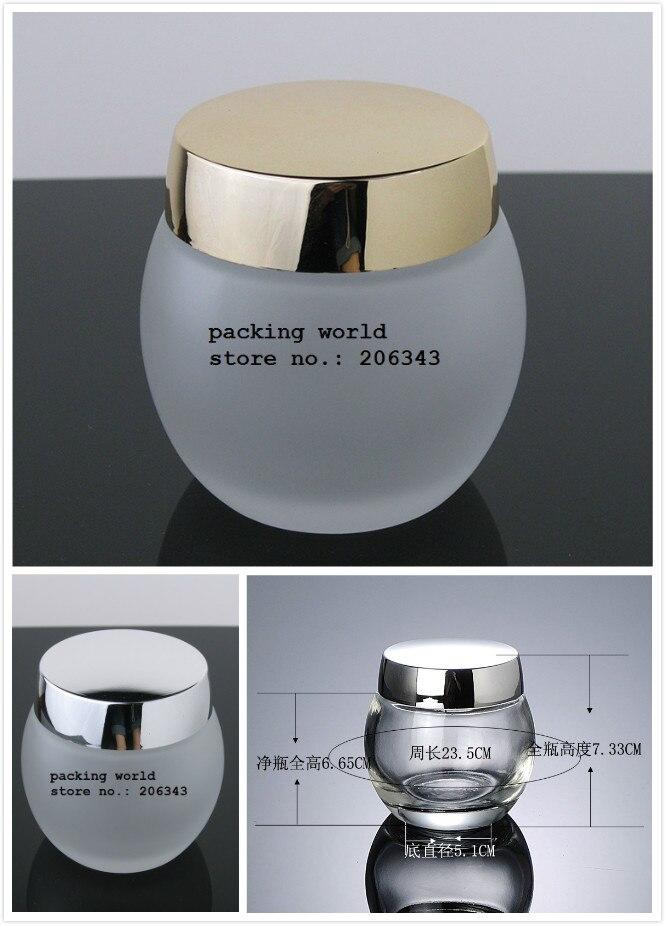 120กรัมขวดแก้วใสสำหรับหน้ากาก/ครีมกลางคืน/ร่างกายขัด/สาระสำคัญ/m oisturizer/เจล/ดูแลผิวหม้อสำหรับบรรจุเครื่องสำอางขวดแก้ว-ใน ขวดรีฟิล จาก ความงามและสุขภาพ บน   1