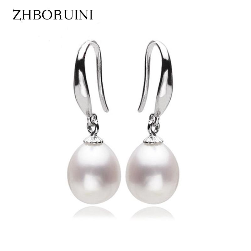 ZHBORUINI 2019 Fashion Pearl Earrings Pearl For Women Jewelry Of Silver Water Drop Freshwater Pearl 925 Silver Earrings Jewelry