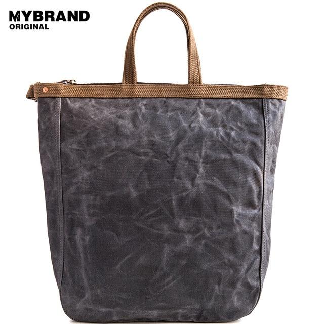 Mybrandoriginal Crossbody Bag Casual Wax Canvas Men S Handbags High Quality For Man Large Capacity